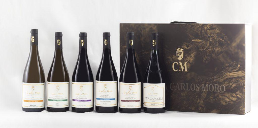 Estuche Colección de Vinos de Finca de Bodega Carlos Moro.
